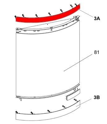Olsberg Escala Scheibenhalter oben